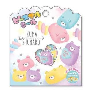 🚚 日本手帳貼紙包🎁分裝✨襪子貓咪 叢林動物 棉花糖熊