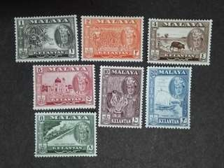Malaysia Malaya 1961/62 Kelantan 2nd Scenes Complete Set  - 9v MLH Stamps