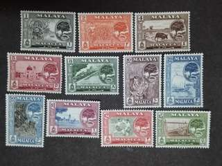 Malaysia Malaya 1960 Malacca 2nd Scenes Complete Set  - 11v MLH Stamps