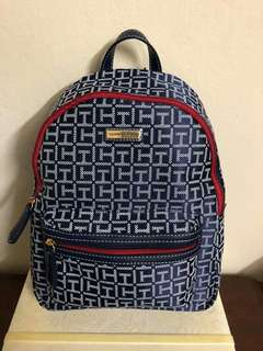Tommy hilfiger backpack blue canvass
