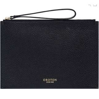 OROTON AVALON POUCH BLACK BNWT