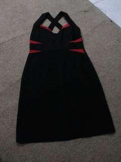 Atasan black red ress belle juy