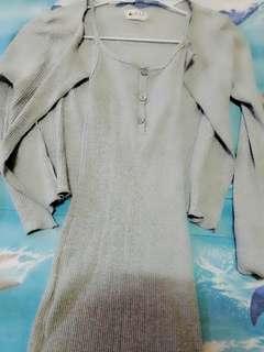 🚚 兩件式模特兒針織洋裝