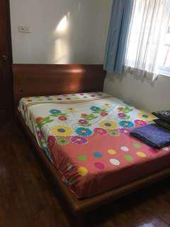 Queen size frame+ mattress + cover