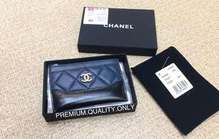 Chanel Gabrielle Card Holder- navy blue