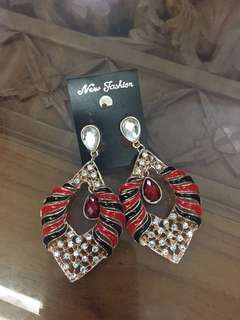 (BN) Promotion for this week-Red New Fashion Earrings