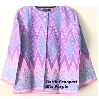 Batik Senopati Mix Purple