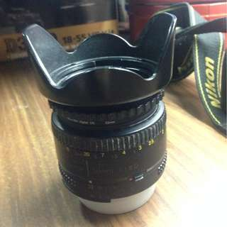 Nikon 50 mm lens with UV Filter and lens hood