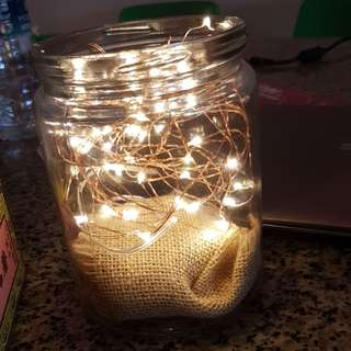 Glass Jars (fairy lights not included)