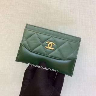 Chanel Gabrielle Card Holder- green