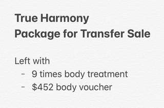 True Harmony Body Treatment Package for Transfer Saw
