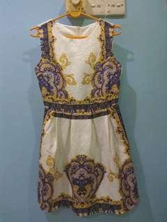 Royal Printed Dress