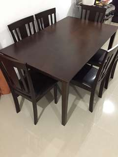 Dining set 6-seater