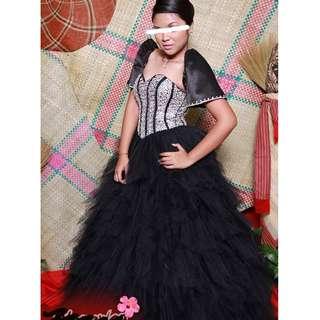 Black Filipiniana Prom Dress