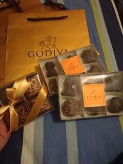 Godiva 朱古力 三小盒