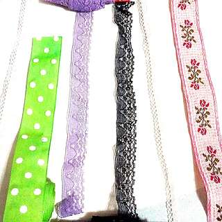 Assorted Laces & Ribbons