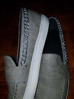 Leather (Gray) Slip-Ons!