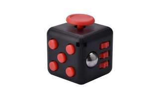 black and red fidget cube