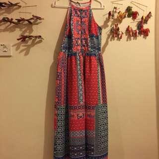 mds aztec print summer maxi dress