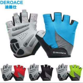 Deroace Half Finger Cycling Gloves Gel Breathable Summer MTB Mountain/Road Bike Gloves Bicycle Gloves