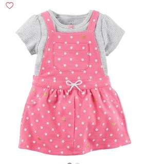 *24M* Brand New Carter's 2-Piece Bodysuit & Jumper Set For Baby Girl
