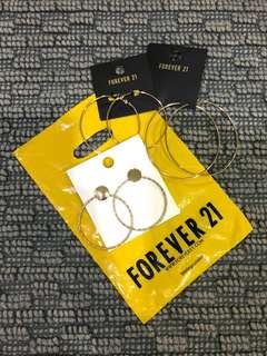 F21 earrings Brandnew Bundle