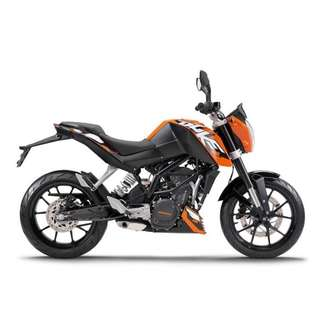 2016 KTM DUKE 200  ABV $10K Can DEAL OWNER 1 only 2Digit Plate
