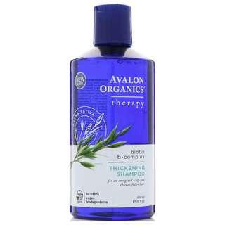 Avalon Organics, Thickening Shampoo, Biotin B-Complex Therapy