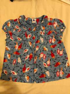 Petit Bateau Bird blouse - size 5Y