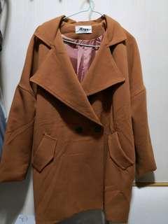 橙啡色大衣Coat