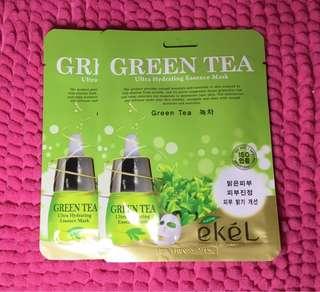 Ekel green tea and pearl facemask