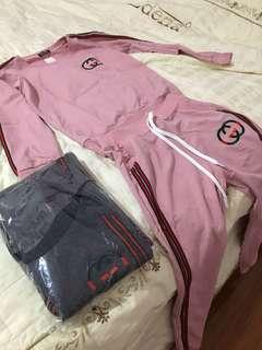 Pink and grey Gucci sets
