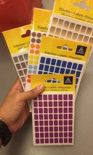 Color label stickers