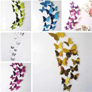 🚚 Gold mirror butterfly wall decor