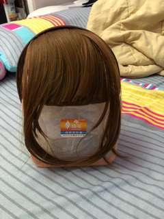 Light Brown / Flaxen Hairband Wig Bangs / Fringe with Long Sides