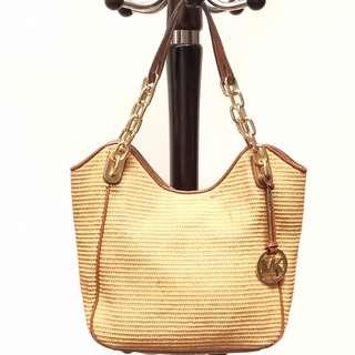 Michael Kors Shoulder Bag Brown Rajut Original Second