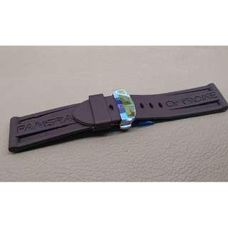 24mm錶帶 膠帶   (OAD防粘毛)  代用品 PANERAI (ref:2422PAN蝴蝶扣膠帶)