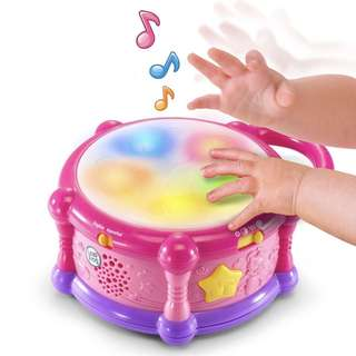 (In-Stock) LeapFrog Learn and Groove Color Play Drum - Bilingual, Exclusive Color - Pink (Brand New)