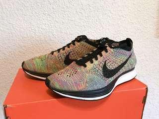Nike Flyknit racer彩虹編織