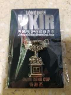 浪琴表 Longines 香港盃 紀念 襟章 章 Pin 收藏 香港賽馬會 HKJC 跑馬