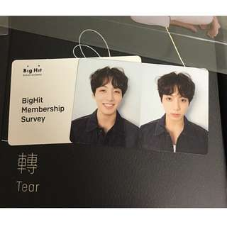 R version album with Jungkook Photocard
