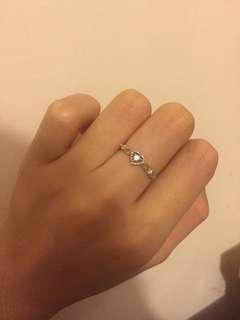 PN 9k白金鑽石戒指 有單有盒