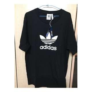 adidas 運動T恤 三葉草 純棉圓領短袖T恤 運動短T 大學T CW0709 T-shirt