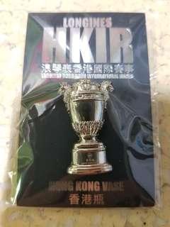 浪琴表 Longines 香港瓶 紀念 襟章 章 Pin 收藏 香港賽馬會 HKJC 跑馬