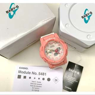 AUTHENTIC Casio Baby-G BGA185-Runner Peach Watch