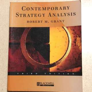 Contemporary strategy analysis by Robert M. Grant (Blackwell business)