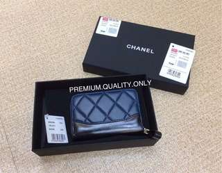 Chanel Gabrielle Coin/ Card Purse- blue