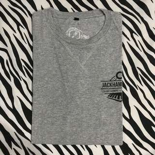 Jackhammer co the machinist tee grey size l