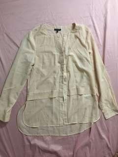 Warehouse nude blouse  medium on tag