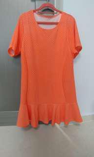 Pink Peplum Top plus size ladies blouse shirt